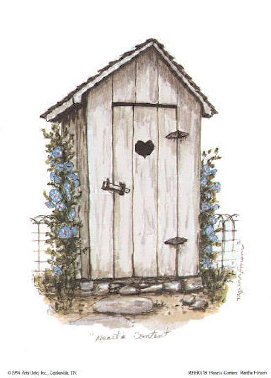 Cuartos De Baño Azul Turquesa:Martha Hinson Art Outhouse