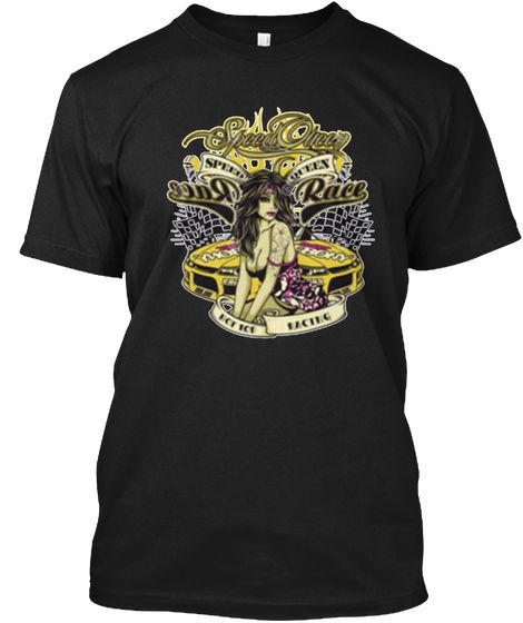 Speed Queen Racing T Shirts | Race Tees Black T-Shirt Front