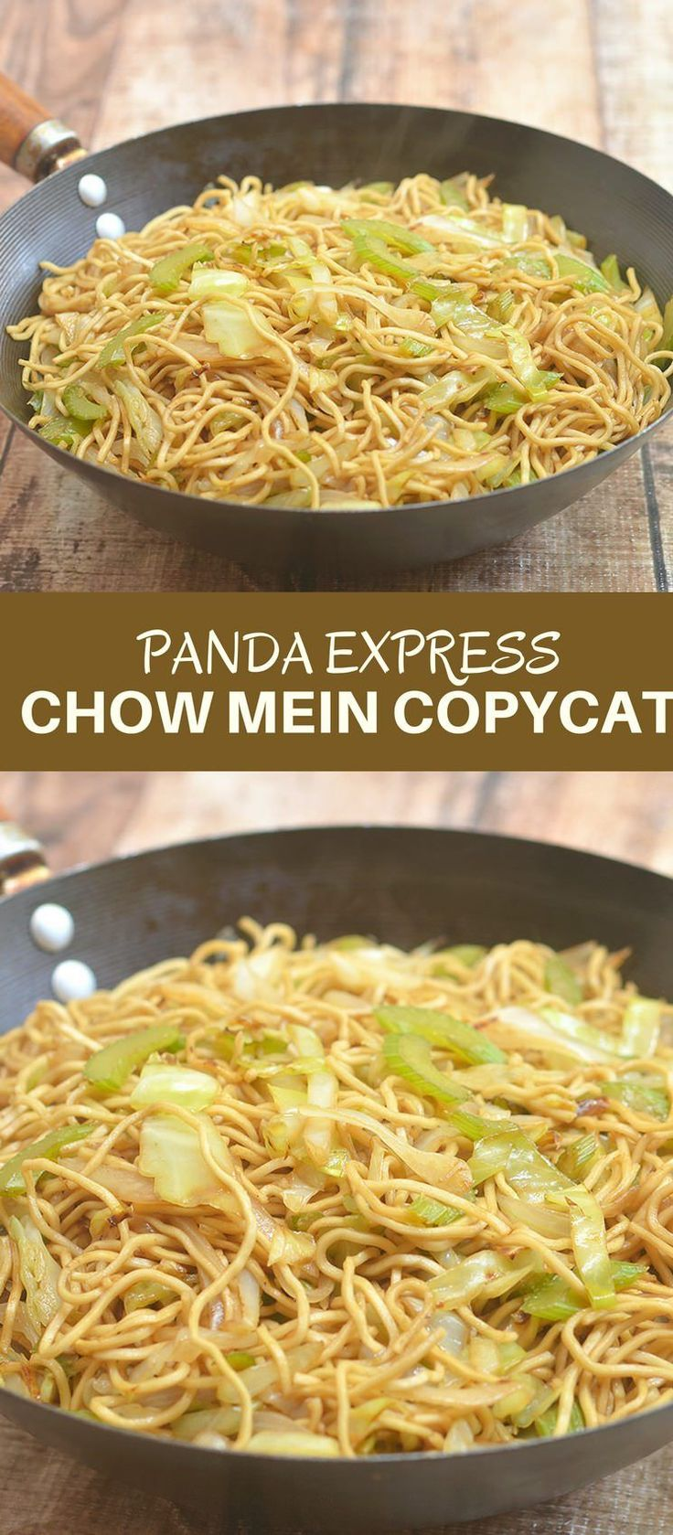 Panda Express Chow Mein Copycat is ready in minutes and tastes just like the restaurant's you would think it's take-out! Recreate your favorite noodle dish cheaper and better at home! #pastafoodrecipes