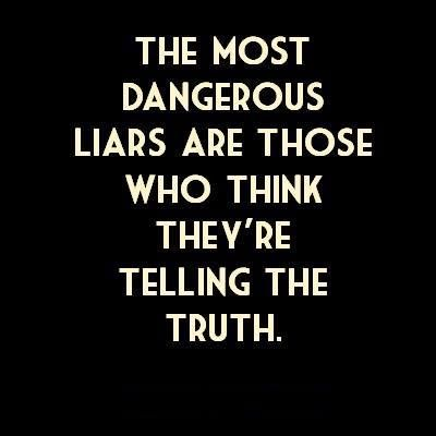 Especially when it involves them lying to themselves!
