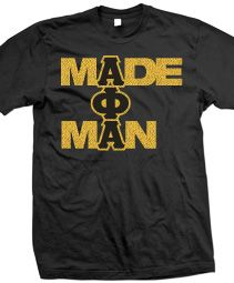 "ALPHA PHI ALPHA ""MADE MAN"" T-SHIRT  Item Id: PRE-ST-AFAMADEMAN-BLK-ST    Price: $39.00"