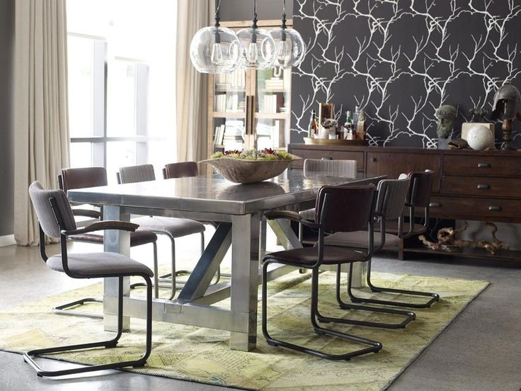 Modern Industrial Loft Dining Room Design