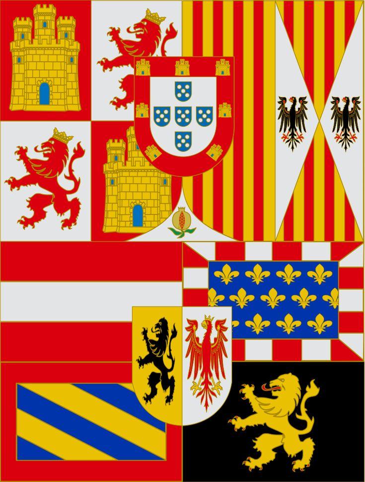 Estandarte Real de Felipe II - Casa de Austria - Wikipedia, la enciclopedia libre