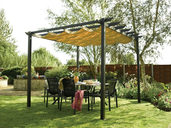 Rowlinson Latina canopy from Tesco Direct & Best 25+ Pergola with canopy ideas on Pinterest | Outdoor patio ...