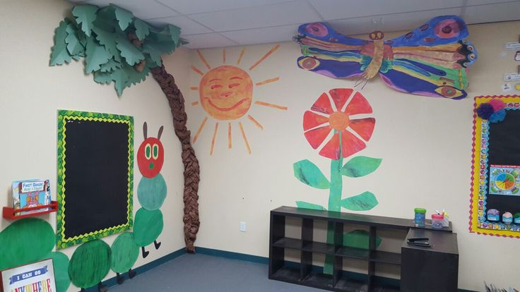 Eric carle reading center.  The Tiny Seed and The Hungry Caterpillar artwork done by me!