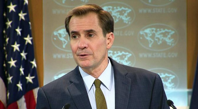 . A US government spokesperson has struggled to answer questions put to him on why the US condemns R