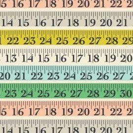 Rosehip Dubbelzijdig papier - Tape Measure & Ric Rac