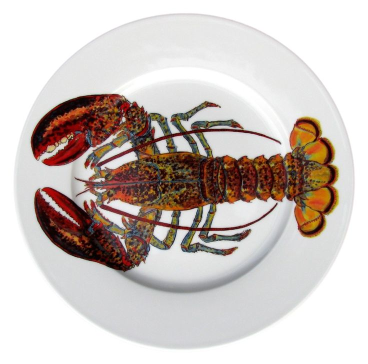 North American Lobster 26cm Flat Rimmed Plate