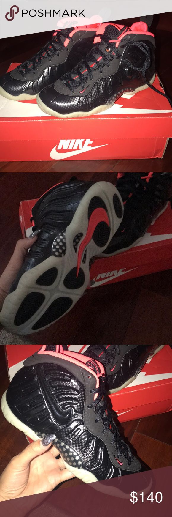 New glow in the dark Nike Yeezy Foamposite - SZ 4 Worn once!! The bottom sole glows in the dark! Size 4 with original box Nike Shoes Sneakers