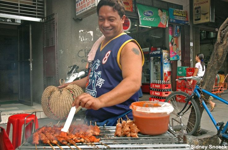 barbecue on the streets of Manila