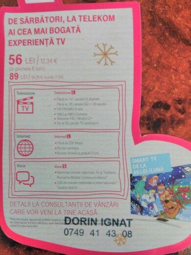 Prinde acum cel mai tare pachet de internet si tv de la Telekom detalii în privat!