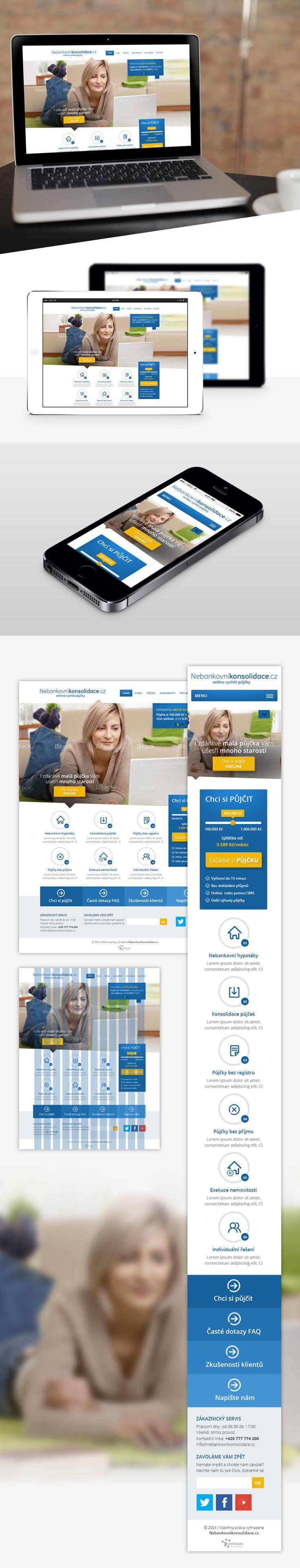 Představujeme další zajímavější projekt http://www.nebankovnikonsolidace.cz/. Web v responsivním designu, který je zaměřen na úvěry. Jak se Vám líbí? Objevíte ještě něco, co bychom mohli vylepšit?