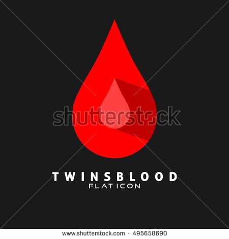 Twins Blood Flat Icon. Can use for medical logo, health Logo, and Hospital logo. Vector Eps.10