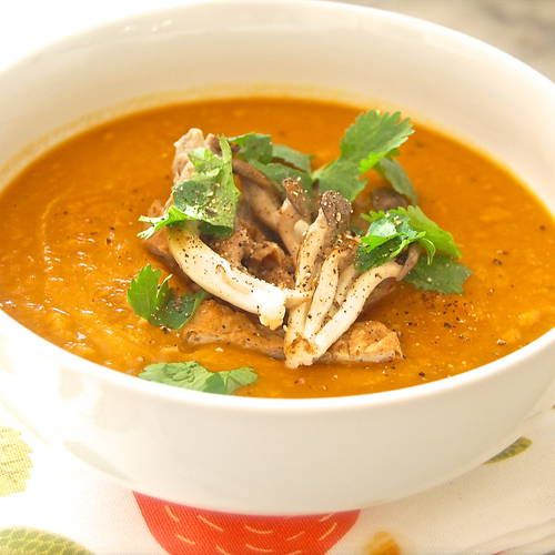 Vegan Sweet Potato with Miso and Ginger Soup