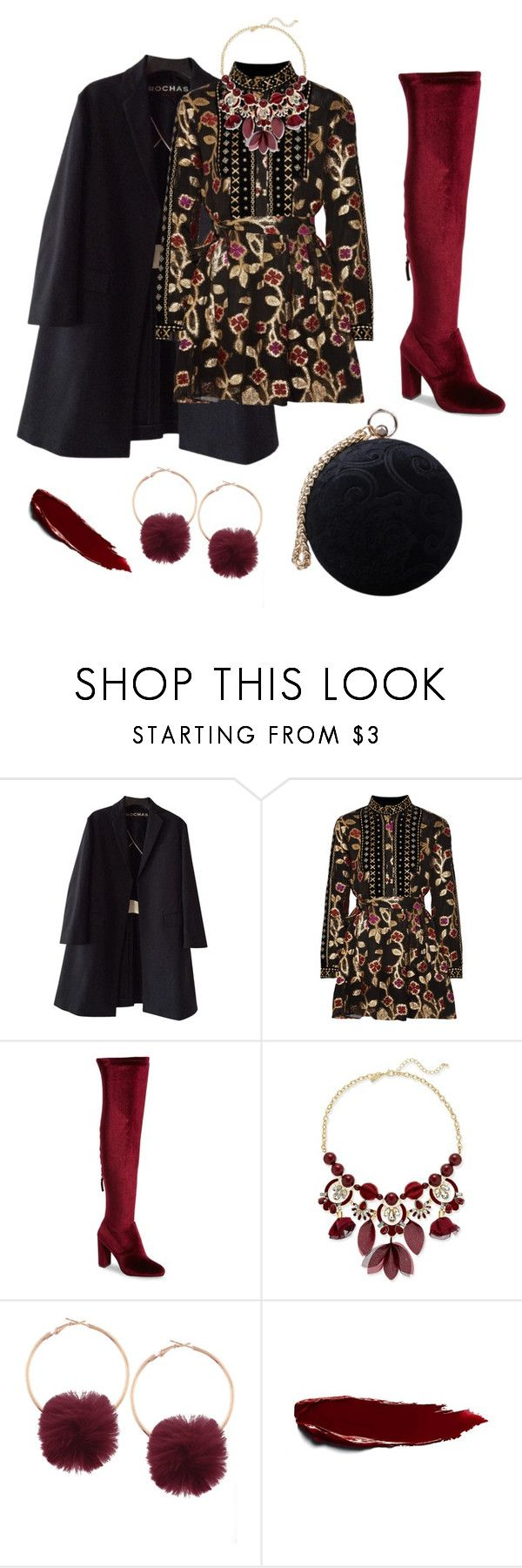 """""""Not So Russian Red"""" by tiffanyrenee-1 on Polyvore featuring Rochas, Dodo Bar Or, Steve Madden, INC International Concepts and Carvela"""