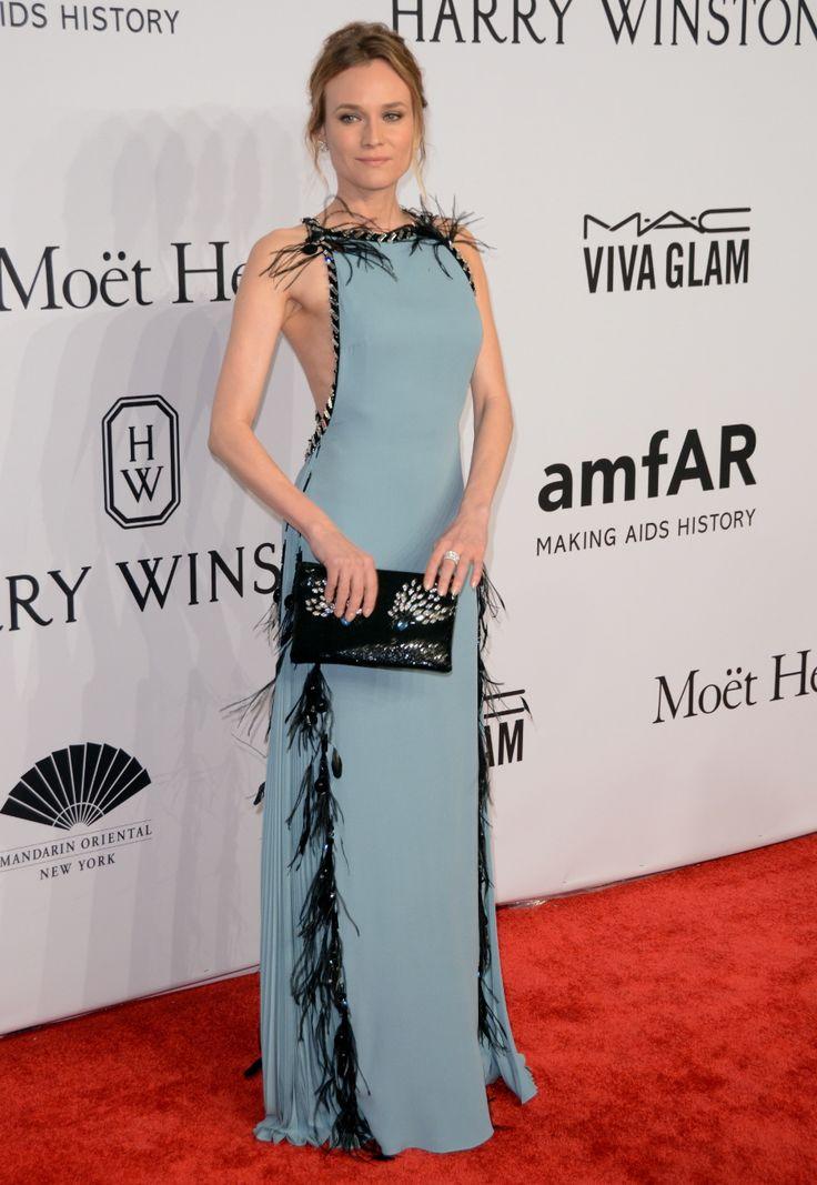 Diane Kruger in Prada at the NYFW amfAR gala