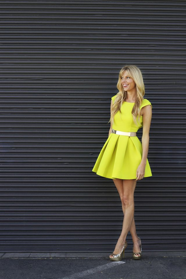 so cute and bright  #yellowdress