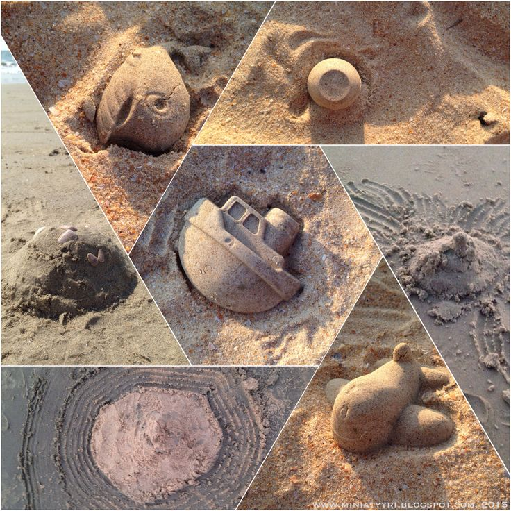Hiekkakakkumontaasi - Sandcake montage
