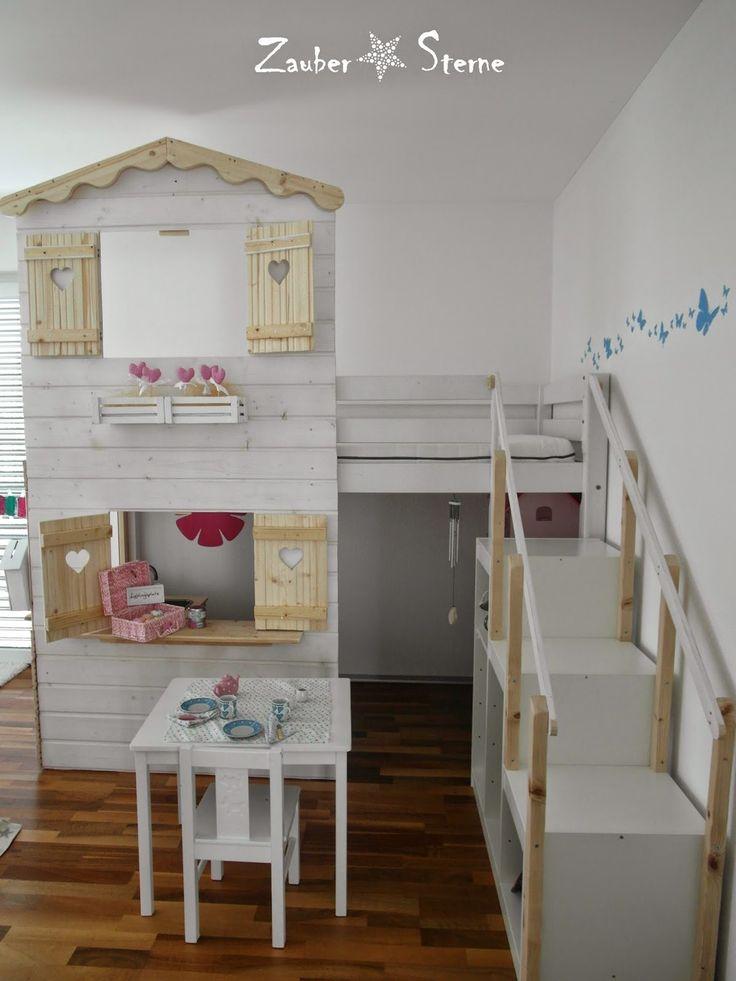 zaubersterne : Kinder(t)raum Fortsetzung - DIY Hochbetthaus