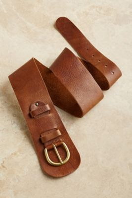 Leather Contour Belt - Leather Belt, Tapered Belt | Soft Surroundings