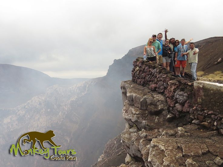 Adventurers on a guided trip posing at the Masaya Volcano National Park in Nicaragua... https://www.costaricamonkeytours.com/costa-rica-tour-31/