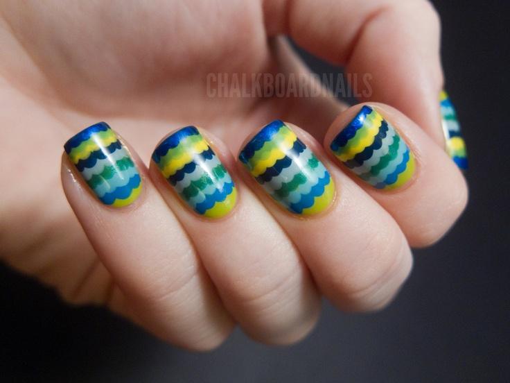 Ruffle nails: Ruffles Nails, Nails Art, Art Blog, Chalkboards Nails, Chalkboard Nails, Manicures Tutorials, Cute Summer Nails, Ruffles Manicures, Nails Tutorials