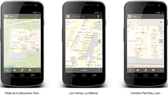 Los mapas interiores de Google Maps llegan a Francia http://www.xatakandroid.com/p/87118