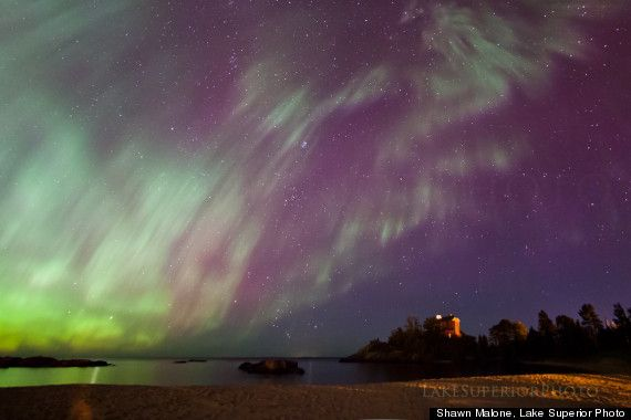 How To See The Aurora Borealis Northern Lights From Michigan's Upper Peninsula: Lighthouses, Aurora Borealis, Northern Lights, Marquette Lighthouse, Puremichigan, Pure Michigan