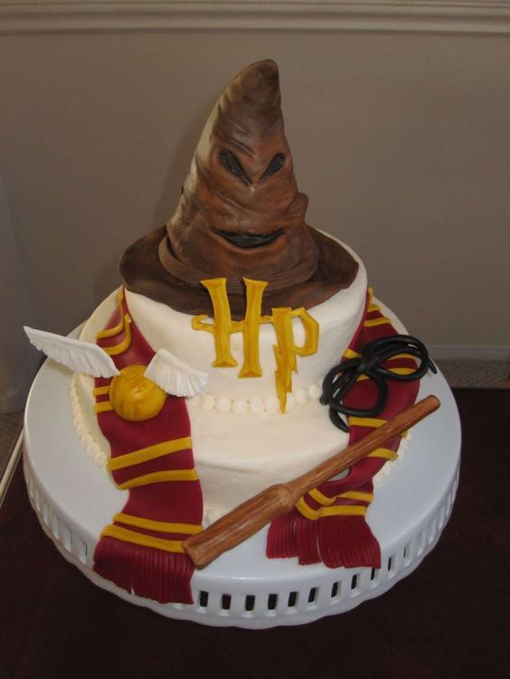 Idee decorazioni Torte di Harry Potter – Torta di pasta di zucchero di Harry Pot…