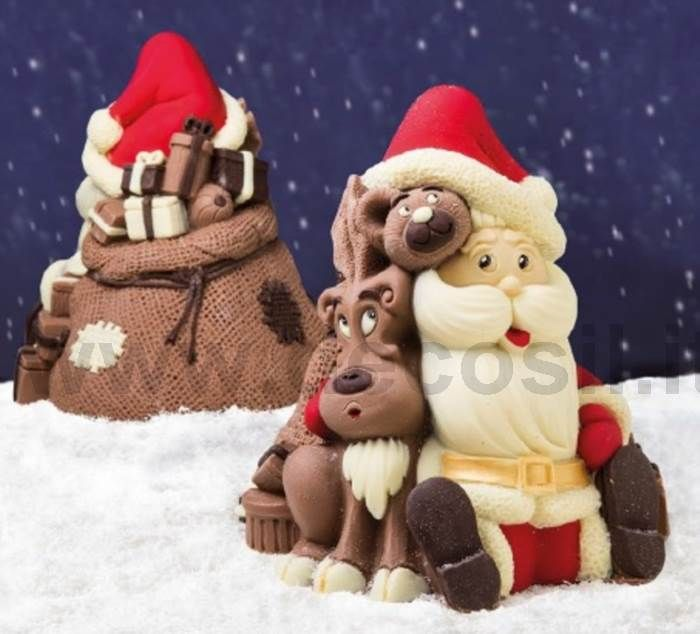 How to make a Santa Claus chocolate Bell Shell mold  #Chocolate #Cristmas #SantaClaus