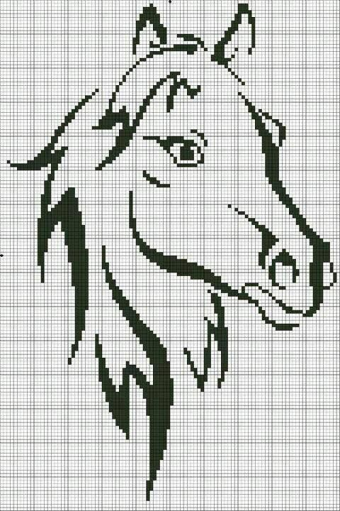 Sticken Pferde - cross stitch horses - free pattern<3