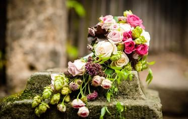 Unique flower design! We love this bouquet. All the vibrant colours look amazing together. For more flower inspiration for your wedding, check out our board.