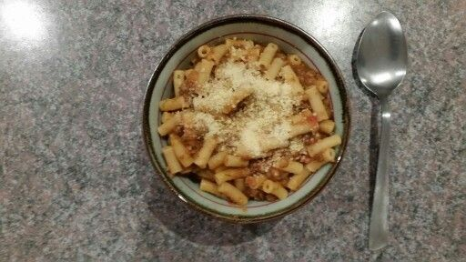 Lentils & Pasta. A hearty dish & rather yummy!