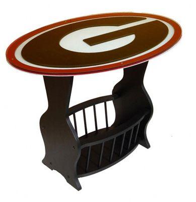 Georgia Bulldogs Logo End Table