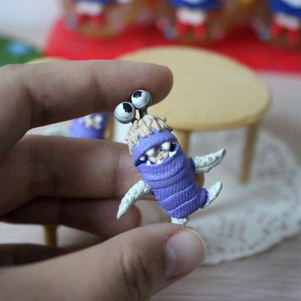 1pcs Original Monsters University Boo Figures Toy Doll Monster Inc Little Girl Babblin Boo Model Miniature 3.5CM