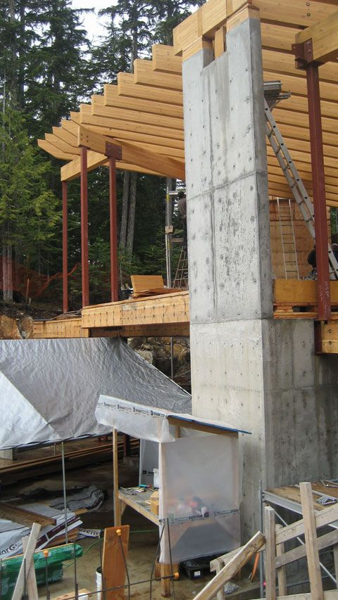 Glulam Beams Over Concrete Wall Architecture Pinterest