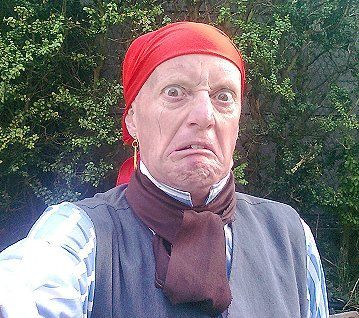 Andy Sinclair as a pirate character for a kids TV show