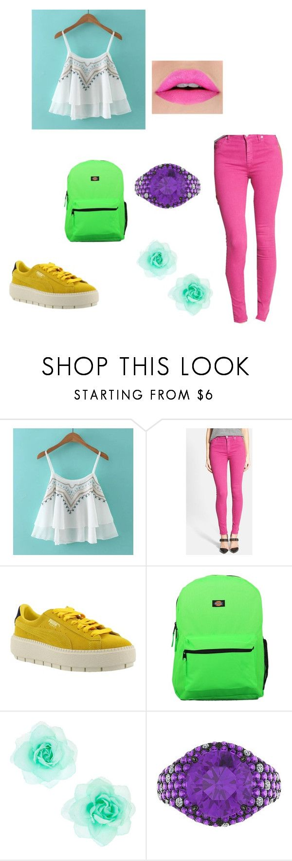 """""""moda4"""" by denisa13alexandra on Polyvore featuring beauty, Hudson Jeans, Puma, Dickies and Ferrucci"""