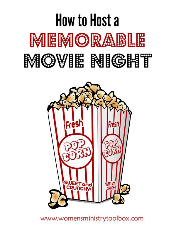 How to Host a Memorable Movie Night - Ideas and tips for hosting a movie night. Even includes free printable movie-themed icebreaker questions! Trom Women's Ministry Toolbox.