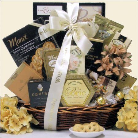 In Loving Memory: Sympathy Gift Basket, Gourmet & Artisan Foods :: Gift Boxes & Baskets :: Bullszi.com