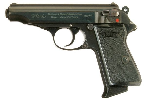 """James Bond (Sean Connery) is assigned a 7.65 mm """"Walther PPK"""" by M. Know as the James Bond gun"""