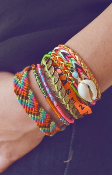 Braided boho friendship bracelets 3