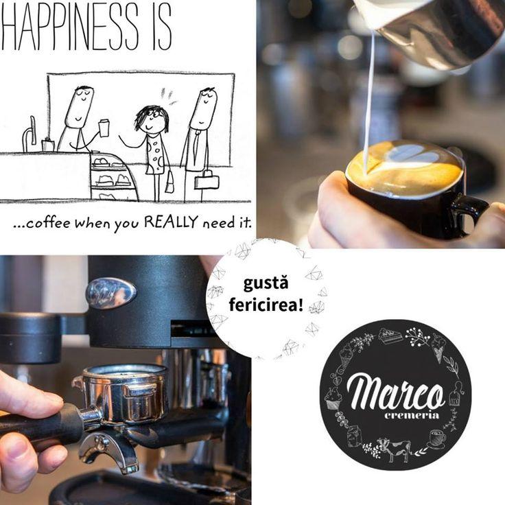 Fericirea poate fi atunci când primești cafeaua de care ai nevoie :) #cafea #pitesti #cremeriamarco