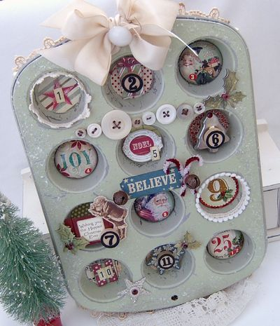 To celebrate the REAL 12 Days (12/26-1/6) - fill a muffin tin for a 12 Days of Christmas calendar!