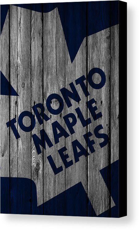 Maple Leafs Canvas Print featuring the digital art Toronto Maple Leafs Wood Fence by Joe Hamilton
