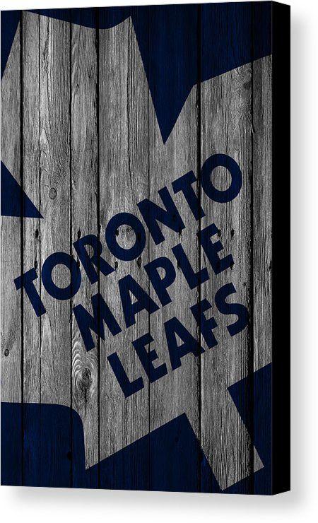 Maple Leafs Canvas Print featuring the digital art Toronto Maple Leafs Wood Fence by Joe Hamilton