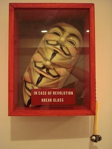 """Behind this mask there is more than just flesh. Beneath this mask there is an idea... and ideas are bulletproof."""