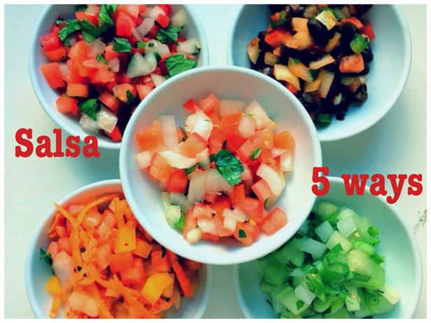 Salsa - 5 Ways - from the Food Network: Recipes Dips, Salsa Recipes