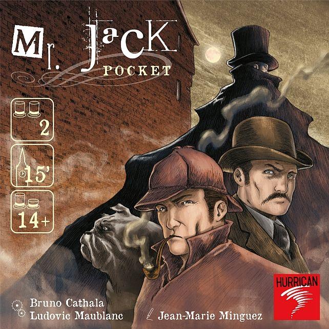 Edycja polska. Po spowitych mrokiem ulicach dzielnicy Whitechapel ukradkiem przemyka się Mr. Jack, ścigany przez Holmesa i Watsona.      Mr. Jack Pocket to miniaturowa odmiana doskonałej gry detektywistycznej Mr. Jack. Nie jest to jednak dokładna kopia tej gry, a całkowicie inny sposób na ciekawą rywalizację pełną blefu i dedukcji.      W poszukiwaniu...