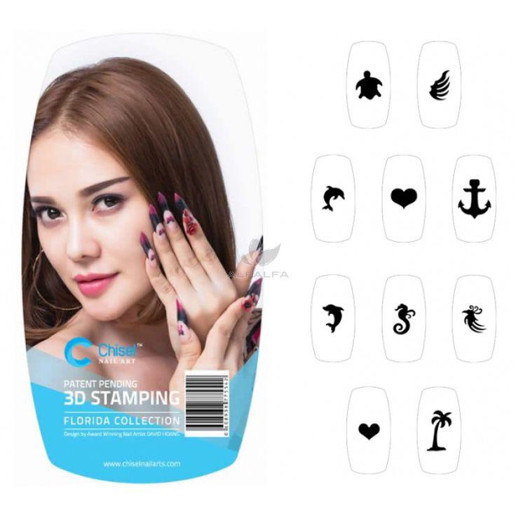 Chisel nail arts 3d nail stamping florida collection for 3d nail art salon
